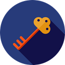 security, Access, pass, Tools And Utensils, Door Key, Passkey, Key, password DarkSlateBlue icon