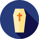 Box, cross, death, halloween, coffin DarkSlateBlue icon