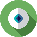 Visibility, interface, Eye, visible, halloween, view, miscellaneous, medical MediumSeaGreen icon