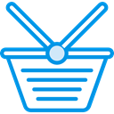 store, Basket, shopping, Purchase, Commerce And Shopping, Seo And Web, Shop, shopping basket, Container DodgerBlue icon