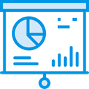 chart, Presentation, Business, statistics, graphic, finances, financial, Seo And Web DodgerBlue icon