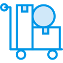 Cart, trolley, Delivery, deliver, items, Delivery Cart, Shipping And Delivery DodgerBlue icon