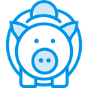Commerce And Shopping, Seo And Web, piggy bank, savings, funds, save, Money, coin DodgerBlue icon