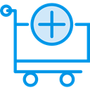 Add, store, Cart, shopping, trolley, shopping cart, Shop, market, Commerce And Shopping DodgerBlue icon