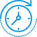Clock, time, watch, tool, Tools And Utensils, Time And Date DodgerBlue icon