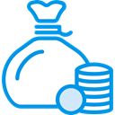 Money, coin, Bag, rich, riches, poor, Commerce And Shopping, Seo And Web DodgerBlue icon