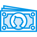 Notes, Business, Change, Money, Coins, Cash, stack, Currency, Commerce And Shopping DodgerBlue icon