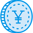 Cash, yen, Currency, Commerce And Shopping, Business, Money, coin Lavender icon