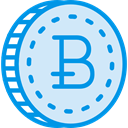 coin, Cash, Currency, Bitcoin, Commerce And Shopping, Business, Money Lavender icon