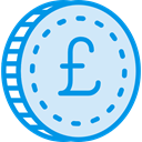 Pound Sterling, Business And Finance, Commerce And Shopping, Cash, pound, Currency, banking, Business, Money Lavender icon