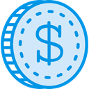 Business, Money, coin, Cash, Dollar, Currency, Commerce And Shopping Lavender icon