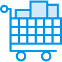 Full, store, Cart, shopping, trolley, shopping cart, Shop, market, Commerce And Shopping DodgerBlue icon