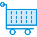 shopping cart, Shop, market, Commerce And Shopping, Cart, shopping, trolley, Full, store Lavender icon