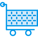 shopping, trolley, shopping cart, Shop, market, Commerce And Shopping, store, Cart DodgerBlue icon