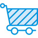 Cart, shopping, trolley, shopping cart, Shop, market, Commerce And Shopping, store DodgerBlue icon