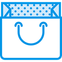 paper, shopping, Bag, Shop, Container, shopping bag, paper bag, Commerce And Shopping DodgerBlue icon