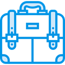 portfolio, Commerce And Shopping, Business, Briefcase, Bag, suitcase DodgerBlue icon