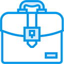Business, Briefcase, Bag, suitcase, portfolio, Commerce And Shopping DodgerBlue icon
