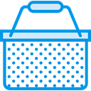 store, Basket, shopping, Shop, shopping basket, Container, Purchase, Commerce And Shopping DodgerBlue icon