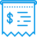 commerce, Ticket, payment, receipt, Business, Bill, invoice, Commerce And Shopping DodgerBlue icon