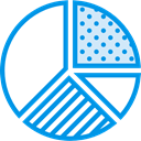Business, Stats, statistics, marketing, Pie chart, finances, graphical, Seo And Web DodgerBlue icon