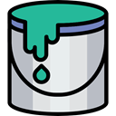 Paint bucket, Tools And Utensils, Graphics Editor, Graphic Tool, Art And Design, Bucket, paint, interface Silver icon