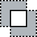 interface, Crop, Squares, Graphic Tool, Edit Tools, Graphic Editor Silver icon