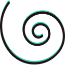 Spiral, graphic design, Graphic Tool, Edit Tools, Lineal, interface Black icon