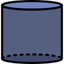 interface, shapes, Cylinder, Volumetrical, Shapes And Symbols DimGray icon