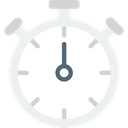 Time And Date, interface, Chronometer, Wait, Tools And Utensils, time, stopwatch, timer WhiteSmoke icon