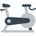 sports, exercise, gymnasium, Gymnast, Sportive, Sports And Competition, Stationary Bicycle, sport Silver icon