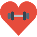 gym, lifestyle, Sports And Competition, Heart, love Tomato icon
