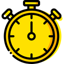 time, stopwatch, timer, interface, Chronometer, Wait, Tools And Utensils, Sports And Competition Gold icon