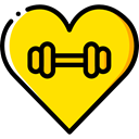 Heart, love, gym, lifestyle, Sports And Competition Icon