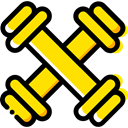 weight, sports, gym, dumbbell, weights, Dumbbells, Tools And Utensils, Sports And Competition Icon