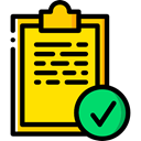 list, interface, tick, Tasks, checking, Sports And Competition Gold icon