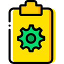 Files And Folders, Clipboard, list, Tasks, checking, Verification Gold icon