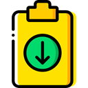 Tools And Utensils, Files And Folders, Clipboard, list, miscellaneous, Tasks, checking, Verification Gold icon