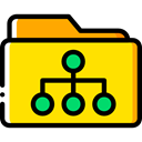 Folder, interface, files, storage, file storage, Data Storage, Office Material, Files And Folders Gold icon