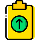 Files And Folders, list, miscellaneous, Tasks, checking, Verification, Tools And Utensils, Clipboard Gold icon