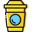 food, coffee cup, hot drink, Coffee Shop, Take Away, Paper Cup, Food And Restaurant, Coffee Gold icon