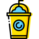 glass, Cold, frappe, Coffee Shop, food, Food And Restaurant Black icon