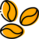 Coffee, drink, food, Beans, drinks, Seeds, Coffee Beans, Food And Restaurant Orange icon