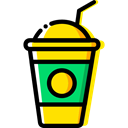 food, Chocolate, Dessert, milkshake, straw, Food And Restaurant, cup, drink Black icon