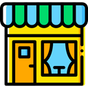 Business, store, buildings, Restaurant, Coffee Shop, Food And Restaurant Gold icon