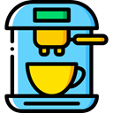 technology, hot drink, kitchenware, Coffee Machine, Coffee Shop, Food And Restaurant LightSkyBlue icon