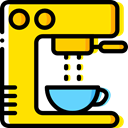 Food And Restaurant, hot drink, kitchenware, Coffee Machine, Coffee Shop, technology Gold icon