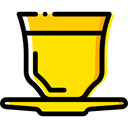 cup, tea, food, coffee cup, Coffee, hot drink, Tools And Utensils, Coffee Shop, Food And Restaurant Gold icon