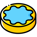 cookie, Dessert, Bakery, Biscuit, baker, Food And Restaurant, food LightSkyBlue icon