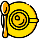food, Chocolate, mug, coffee cup, hot drink, Tea Cup, Food And Restaurant Gold icon